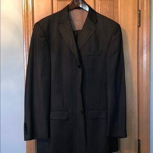 Perry Ellis Portfolio Brown Mens Suit 44R